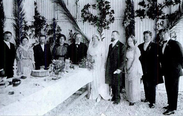 Haim and Sarah Aaronsohn - Wedding, March 1914