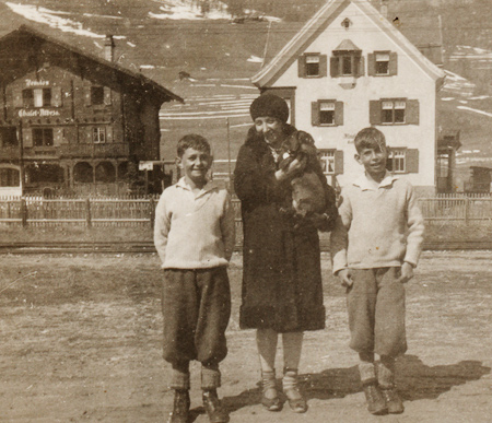 Lea, with Uriel and Gisy Abraham, Celerina, Grisons, Switzerland - 1929