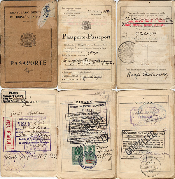 Ronya's passport - 1938